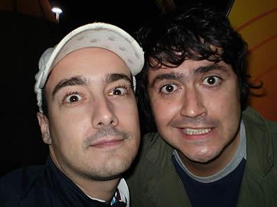 Marco Almeida e Fernando Alvim no Super Bock Super Rock 2008, no Porto