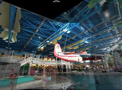Photosynth: Caribe Aquatic Park Indoor Area at Port Aventura, Salou, Tarragona, Espanha
