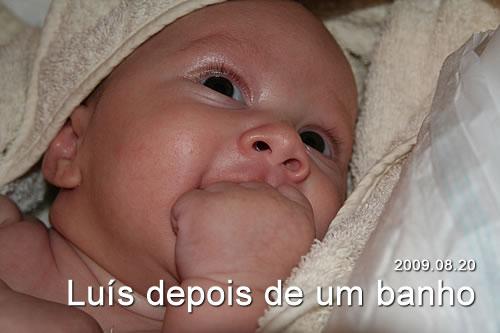 Luís depois de um banho