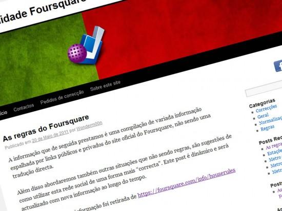 Comunidade Foursquare em Portugal