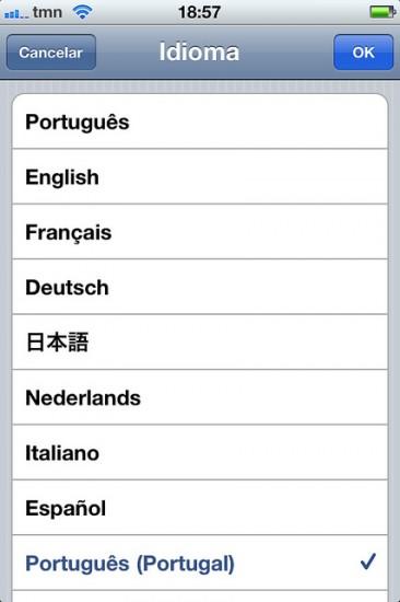 iOS Portuguese Brazil and Portugal