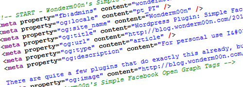 WordPress Plugin: Simple Facebook Open Graph Tags