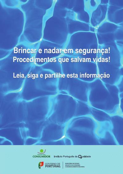 Brincar e nadar em seguranca