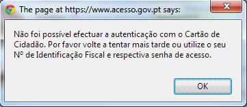Erro Cartão Cidadão IMTT