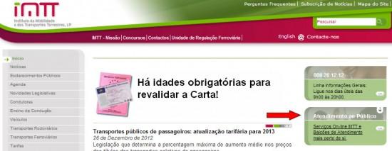 Homepage do IMTT