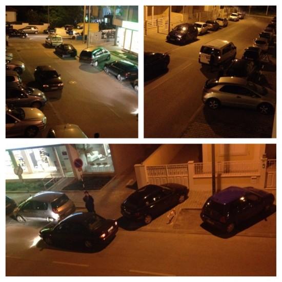 Estacionamento selvagem da R. Dr. Raúl Machado